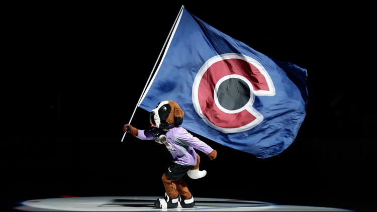 Colorado Avalanche mascot Bernie flag