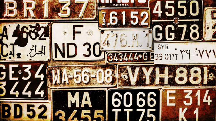 old Grungy Licence Plates