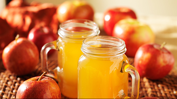 Apple Cider in mason jars