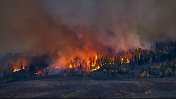 Silver Creek Fire now 12,611 acres, more than 500 personnel now battling the blaze
