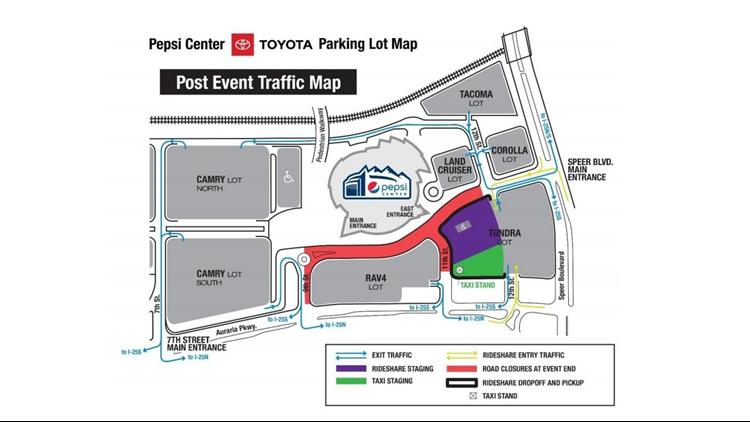 Pepsi Center traffic pattern 2018