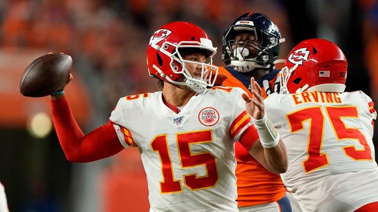 Chiefs Broncos Football Patrick Mahomes