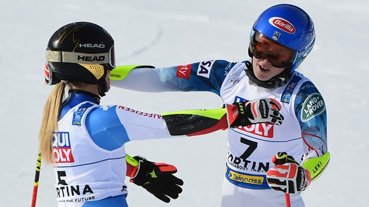 Gut-Behrami wins again, edges Shiffrin in giant slalom