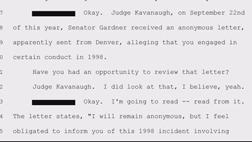 Fourth accusation of misconduct against Kavanaugh sent