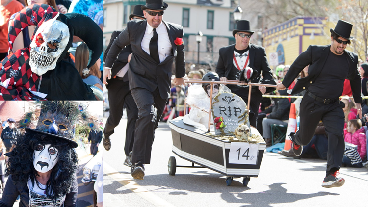 Emma Crawford Coffin Races collage 1