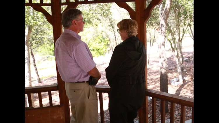 Arlene and Bob Holmes in gazebo (Photo: RMPBS)
