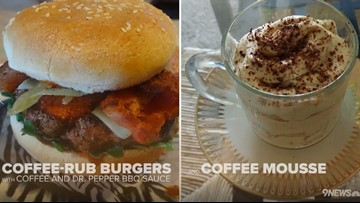 National Coffee Day recipes: Coffee-rub burgers with coffee mousse for dessert