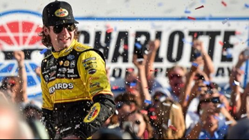 Truex Jr, Johnson crash in final turn; Blaney takes Charlotte victory