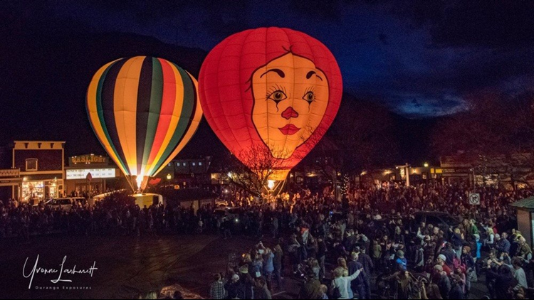Downtown Durango Balloon Glow