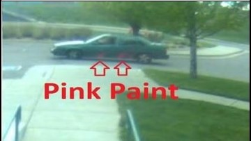 Denver police looking for car with hot pink spray paint following hit-and-run