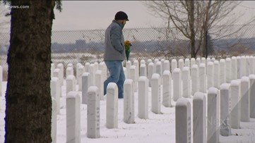 Honoring family members on a snowy Colorado Veterans Day
