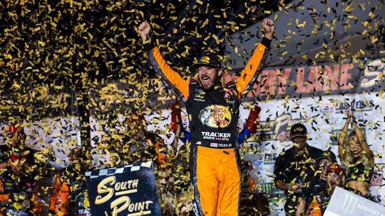 Truex Jr. races into 2nd round with win in opening playoff race