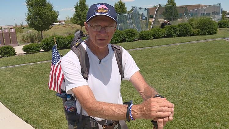 Veteran, 71, walks 3,000 miles for veteran causes
