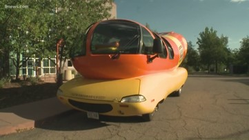 Hot dog! Wienermobile makes a stop at 9NEWS