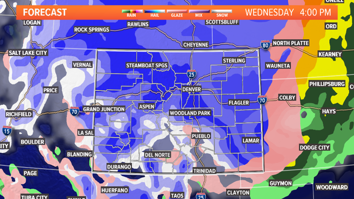 LIVE RADAR | Front Range could see thunderstorms Tuesday, blizzard