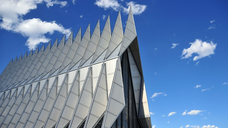 Colorado Springs, Colorado, USA: United States Air Force Academy Cadet Chapel Getty