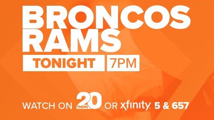 GAME DAY   Denver Broncos vs. Los Angeles Rams on KTVD Ch. 20