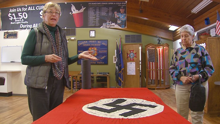 Sending home war memorabilia from the battlefront was a common practice during WWII. A South Dakota family found this swastika banner in 2013. They're looking for families of other veterans - in Colo. & across the U.S. - who had a connection to it.