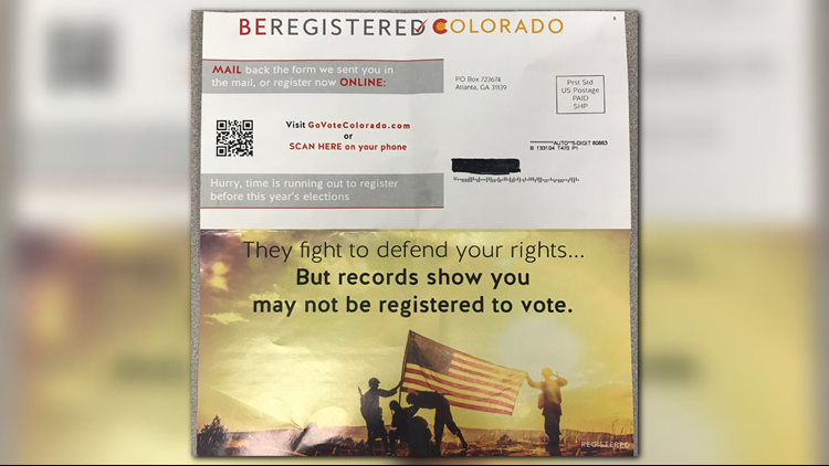 The El Paso County Clerk and Recorder's Office says citizens may receive mail that falsely looks to be official election material.