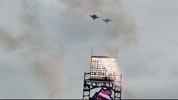 There's a reason why the flyover at Sunday's Rockies game seemed so much louder