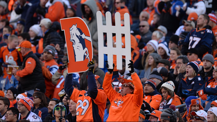 Denver Broncos fans cold weather D Fence