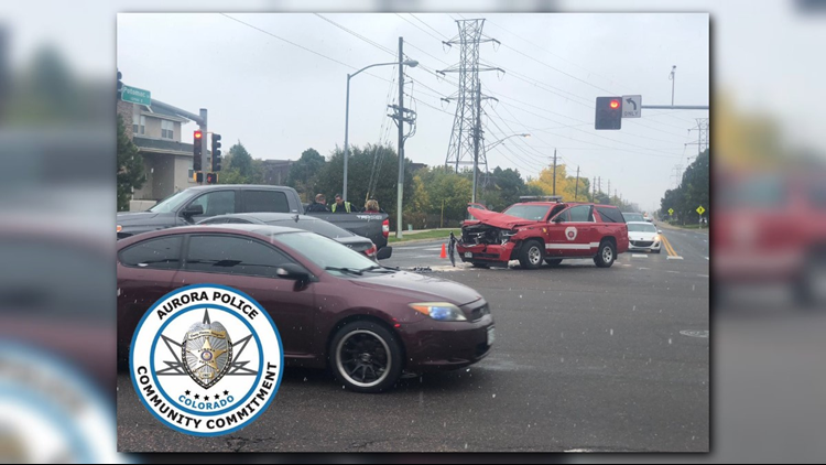 An Aurora fire vehicle was involved in a crash on East 6th Avenue and Potomac Street.