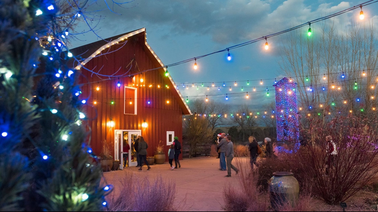 santas village  Denver Botanic Gardens