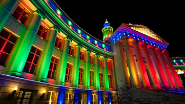 You can take a walking tour of Denver's lights and sights this holiday season