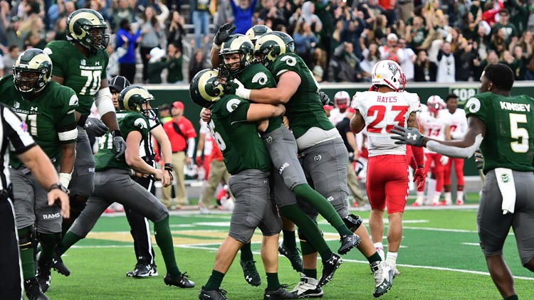 CSU's Wyatt Bryan kicked a 26-yard field goal as time expired on Saturday and Colorado State edged New Mexico 20-18.