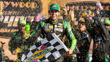 Chase Elliott wins Kansas playoff race; Keselowski, Blaney among drivers eliminated