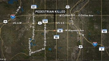 Deadly Lakewood crash involving a pedestrian along Alameda