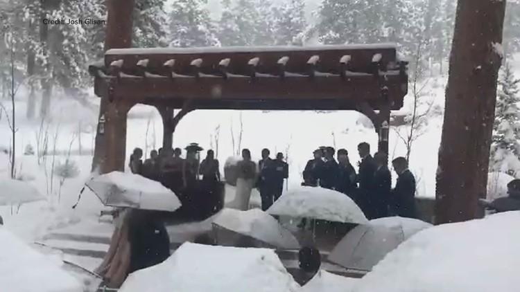 WATCH: Snow dumps on a wedding in Estes Park