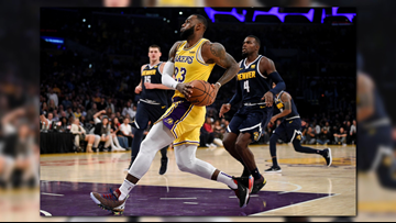 LeBron's triple-double leads Lakers past Nuggets