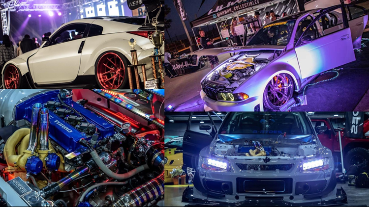 Hot Import Nights collage