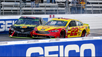 Joey Logano bumps past Truex for Martinsville win