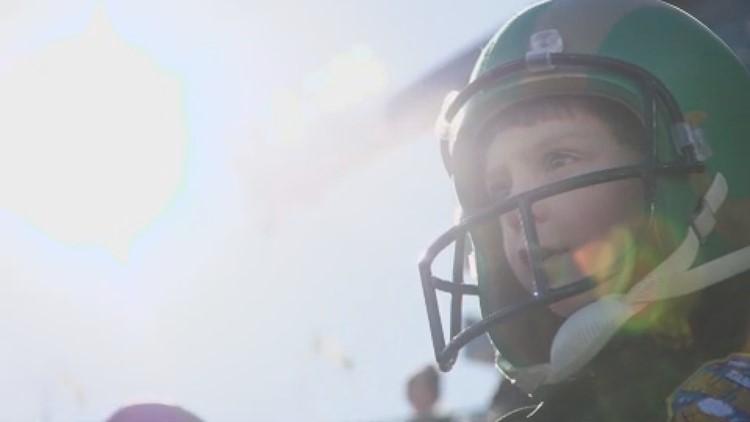 Bryce at a CSU football game.
