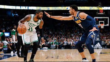Kyrie Irving tosses ball in stands after Murray's '(expletive) move' on last-second shot