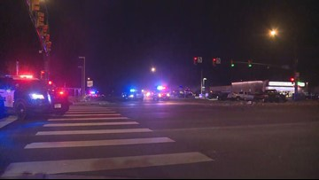 1 dead in officer-involved shooting after robberies, crash in Westminster