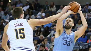 Gasol's free throws give Grizzlies 89-87 win over Nuggets