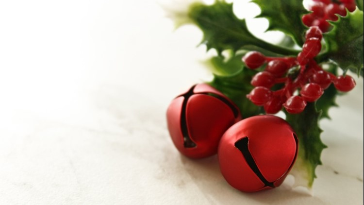 Christmas jingle bell red holly new