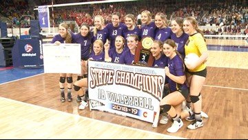 Kit Carson wins back-to-back 1A state volleyball titles