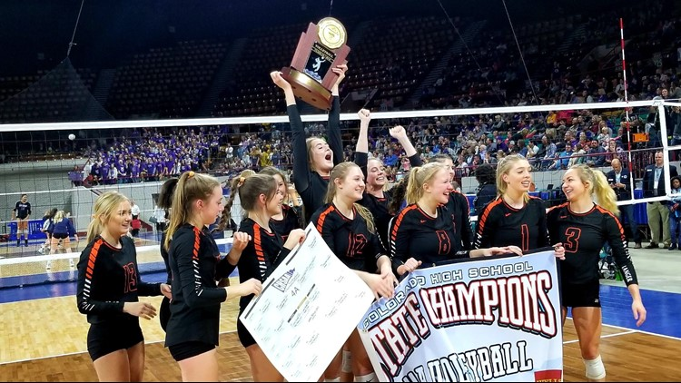 Lewis-Palmer three-peats as 4A volleyball state champion