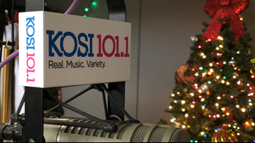 When will KOSI 101.1 switch to Christmas music?