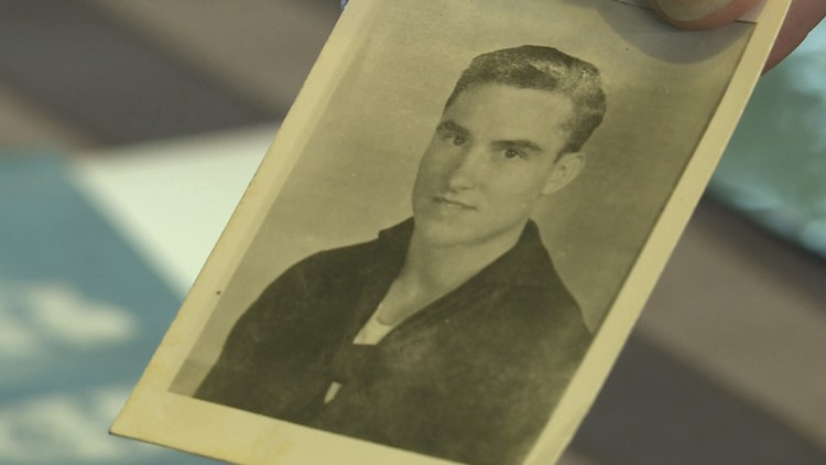 A photo of John from his days in the Navy. He joined at the age of 20 to fight in WWII.