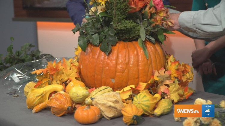 Here's how to make a pumpkin centerpiece