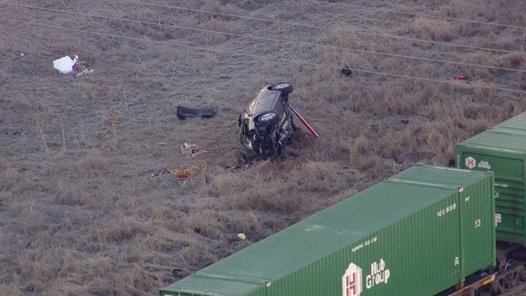 2 dead after car, train collide in Weld County   9news com