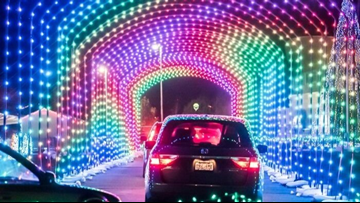 Drive-through Christmas light display at Water World will feature 1.5 million LED lights