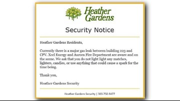 Heather Gardens sent retirees vital information about a gas leak via email