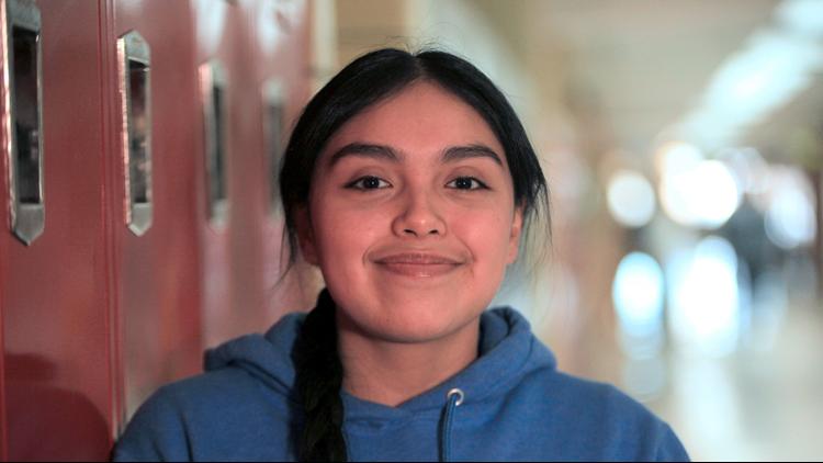 Ariadna Santos-Arriaga is 16, a senior and class valedictorian