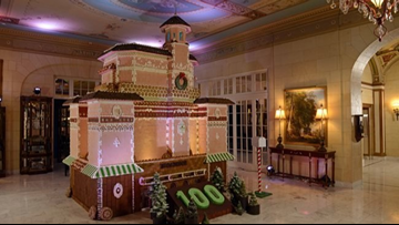 Colorado Springs hotel builds 13-foot tall replica out of gingerbread
